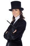 Mujer de negocios atractiva con el sombrero Fotos de archivo