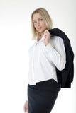 Mujer de negocios atractiva en juego de asunto Fotos de archivo libres de regalías