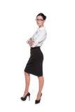 Mujer de negocios atractiva en vidrios Fotografía de archivo