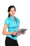 Mujer de negocios atractiva joven. Fotos de archivo libres de regalías
