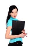 Mujer de negocios atractiva joven. Imágenes de archivo libres de regalías