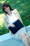 Mujer de negocios azul del tinte imágenes de archivo libres de regalías