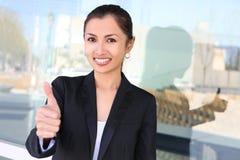 Mujer de negocios bastante asiática Fotos de archivo