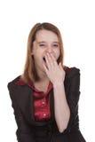 Mujer de negocios - bostezando Imagenes de archivo