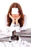 Mujer de negocios cansada Fotos de archivo