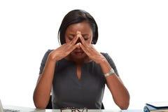 Mujer de negocios cansada imagenes de archivo