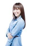 Mujer de negocios casual positiva Imagen de archivo libre de regalías