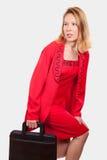 Mujer de negocios caucásica rubia atractiva foto de archivo libre de regalías