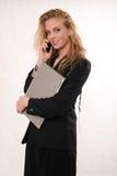 Mujer de negocios caucásica rubia atractiva imagenes de archivo