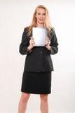 Mujer de negocios caucásica rubia atractiva fotos de archivo