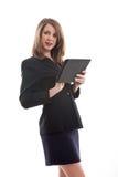 Mujer de negocios caucásica rubia hermosa foto de archivo