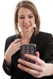 Mujer de negocios caucásica rubia hermosa fotografía de archivo