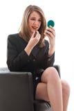 Mujer de negocios caucásica rubia hermosa fotos de archivo libres de regalías