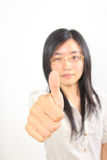 Mujer de negocios china joven foto de archivo libre de regalías