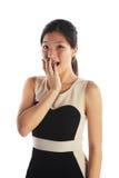 Mujer de negocios chocada imagen de archivo libre de regalías