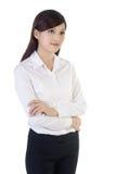 Mujer de negocios cómoda Foto de archivo libre de regalías