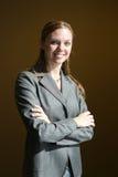 Mujer de negocios cómoda Imagenes de archivo