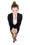 Mujer de negocios con el dinero Fotos de archivo libres de regalías
