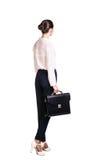 Mujer de negocios con la cartera Imagen de archivo libre de regalías