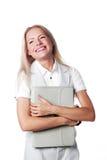 Mujer de negocios con una cartera imágenes de archivo libres de regalías