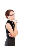 Mujer de negocios con una pluma Fotografía de archivo libre de regalías