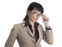 Mujer de negocios confidente Fotos de archivo libres de regalías