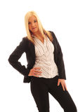 Mujer de negocios confidente Fotografía de archivo