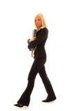Mujer de negocios confidente Foto de archivo libre de regalías