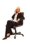 Mujer de negocios confidente Imagen de archivo