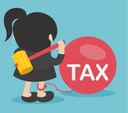 Mujer de negocios contra impuestos stock de ilustración