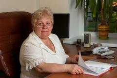 Mujer de negocios de Eldely Foto de archivo libre de regalías