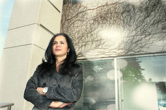 Mujer de negocios de gran alcance Imagen de archivo libre de regalías