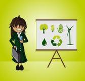 Mujer de negocios de la ecología Imágenes de archivo libres de regalías
