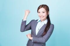 Mujer de negocios de la sonrisa fotografía de archivo