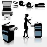 Mujer de negocios de las copiadoras de oficina ilustración del vector