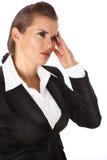 Mujer de negocios de pensamiento Imagen de archivo libre de regalías