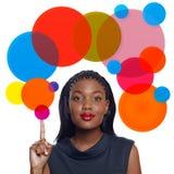 Mujer de negocios del afroamericano libre illustration