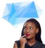 Mujer de negocios del afroamericano ilustración del vector
