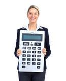 Mujer de negocios del contable Imagen de archivo