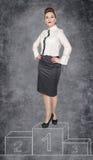 Mujer de negocios del ganador imágenes de archivo libres de regalías