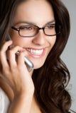 Mujer de negocios del teléfono fotos de archivo libres de regalías