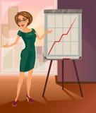Mujer de negocios del vector Imagen de archivo libre de regalías