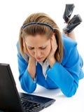 Mujer de negocios deprimida Fotografía de archivo