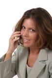 Mujer de negocios ejecutiva con el teléfono celular 3 Foto de archivo libre de regalías