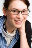 Mujer de negocios, ejecutivo, o adolescente confidente. Foto de archivo libre de regalías