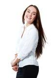 Mujer de negocios emocionada Imágenes de archivo libres de regalías