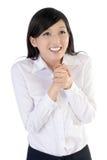 Mujer de negocios emocionante Imagen de archivo