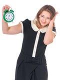 Mujer de negocios en blanco Imagenes de archivo