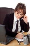 Mujer de negocios en el escritorio #16 Foto de archivo