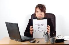 Mujer de negocios en el escritorio #16 Fotos de archivo libres de regalías